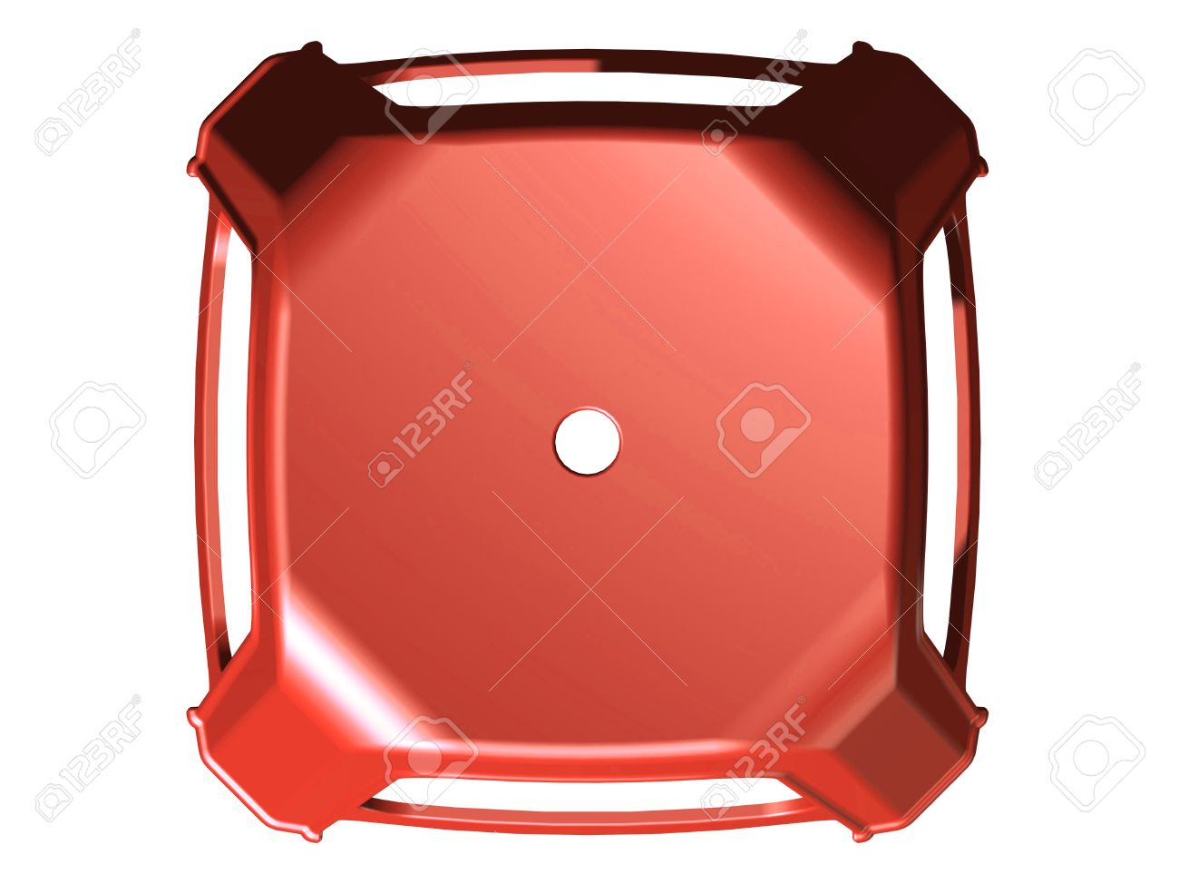 3D plastic stool chair top view Red color Stock Photo - 25836902  sc 1 st  123RF Stock Photos & 3D Plastic Stool Chair Top View Red Color Stock Photo Picture ... islam-shia.org
