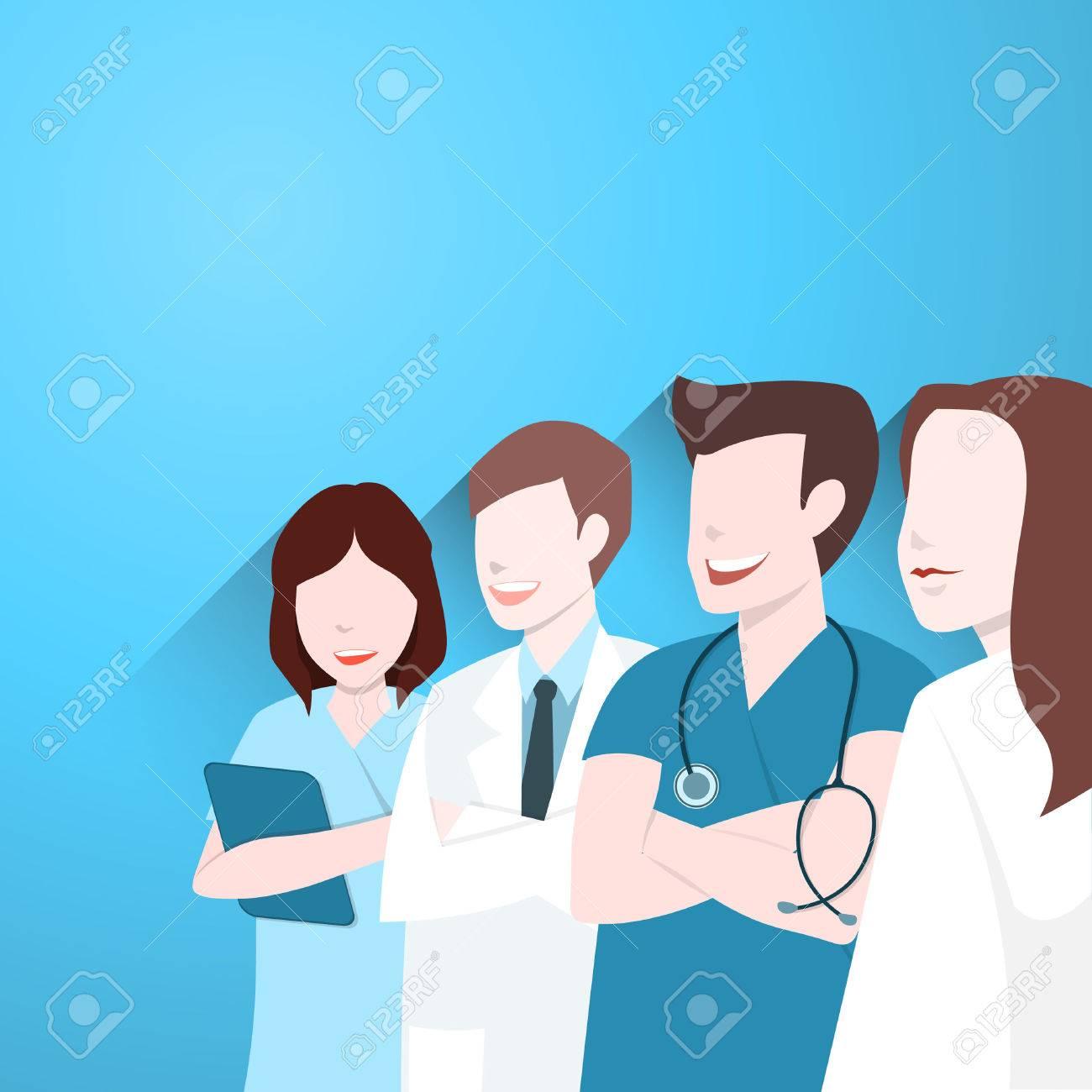 Doctors group, Happy medical team - 55786648