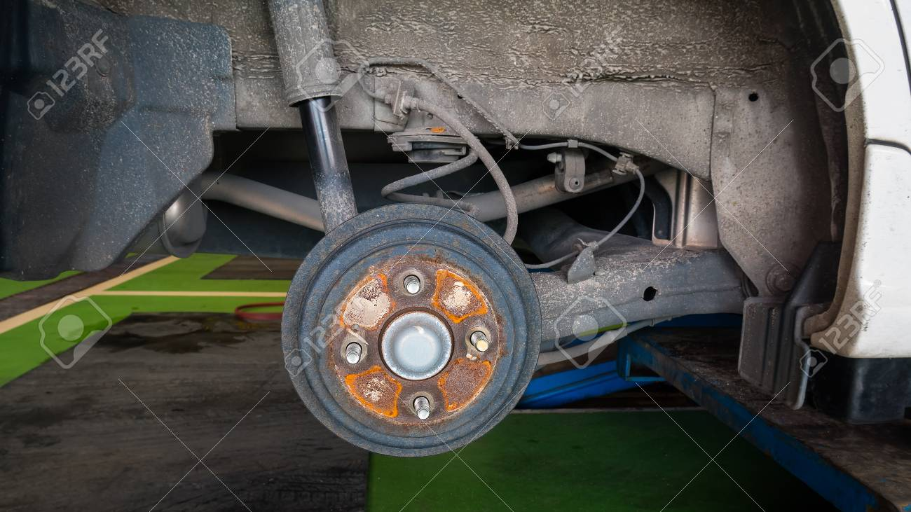 Car Brakes For Stop The Wheels Parts Of A Car Stock Photo Picture
