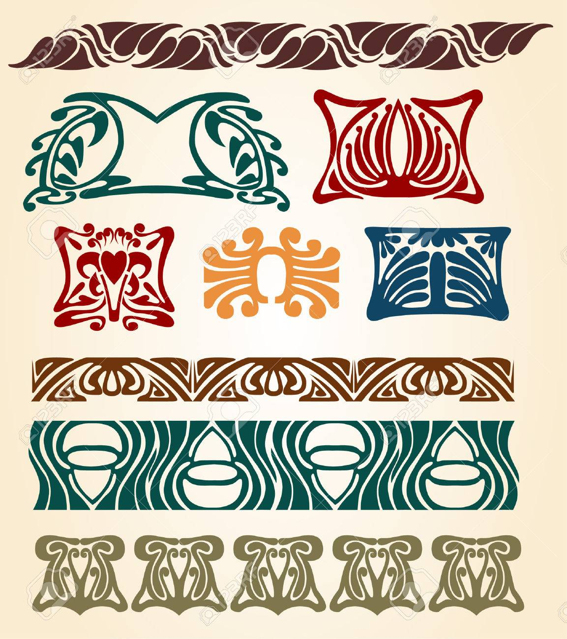there are art nouveau plants and ellements Stock Vector - 7179011