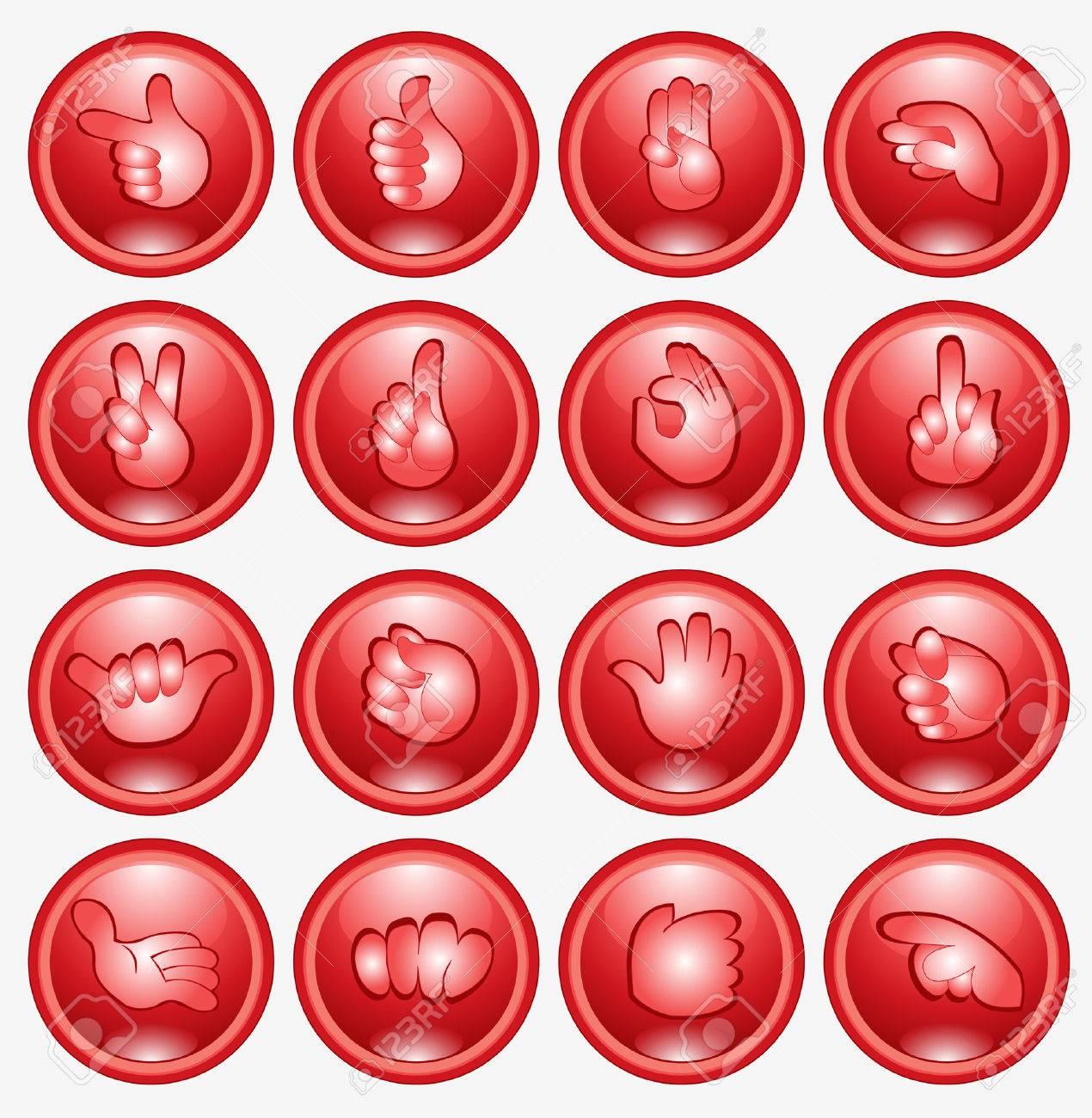 finger arm hend icon web button Stock Vector - 8142493