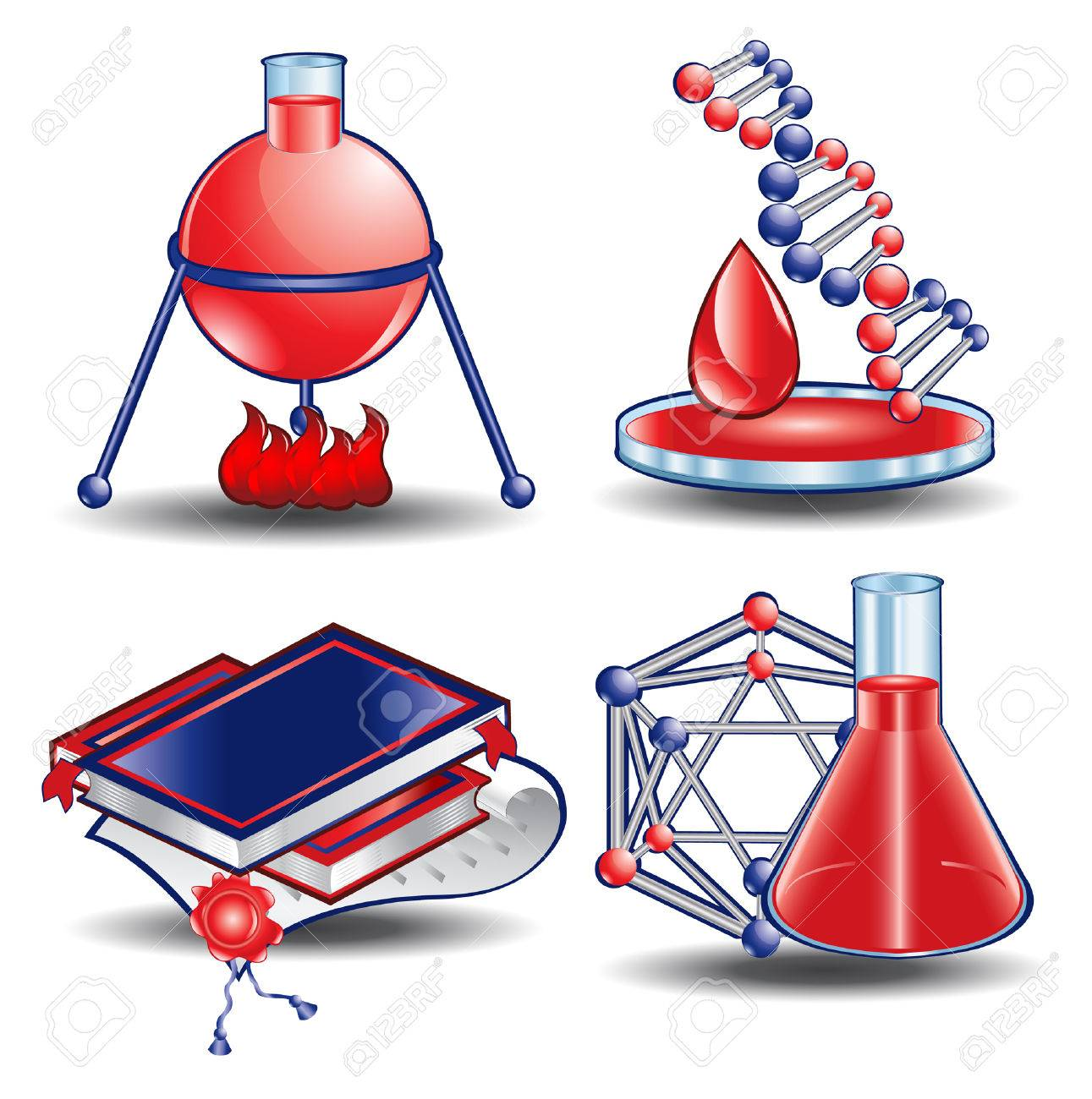 web icon book chemistry blood science Stock Vector - 9106822