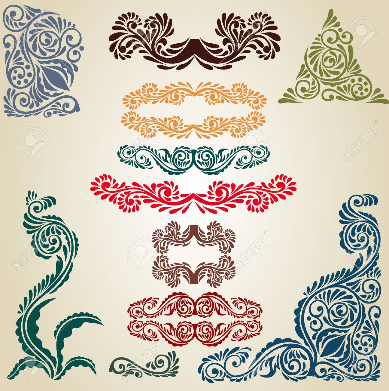 old book element pattern Stock Vector - 9174387