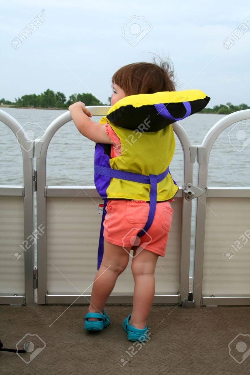 Boat Swim Decks Life Jacket on a Deck Boat