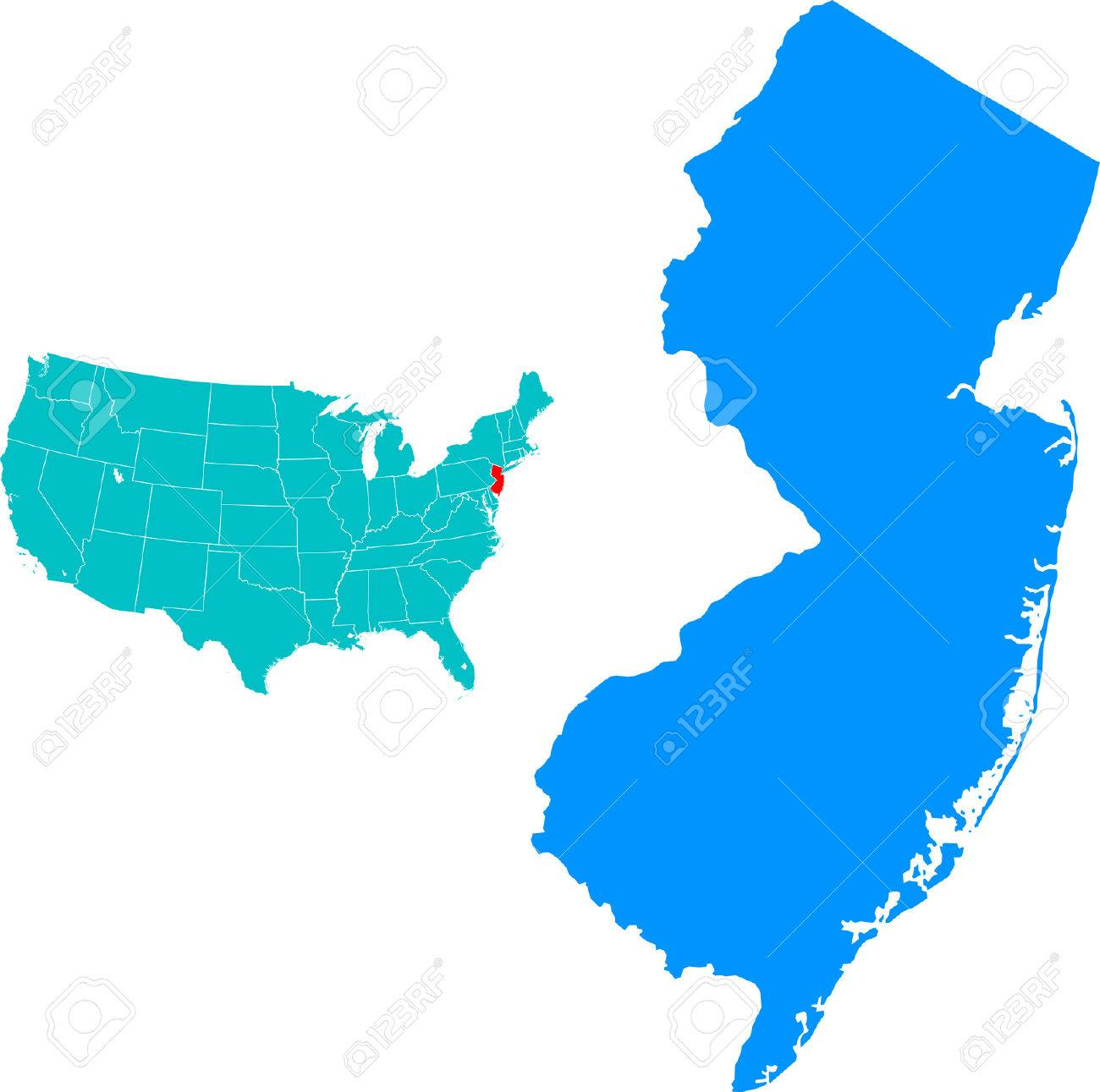 New Jersey Map Royalty Free Cliparts Vectors And Stock - Newjerseymap