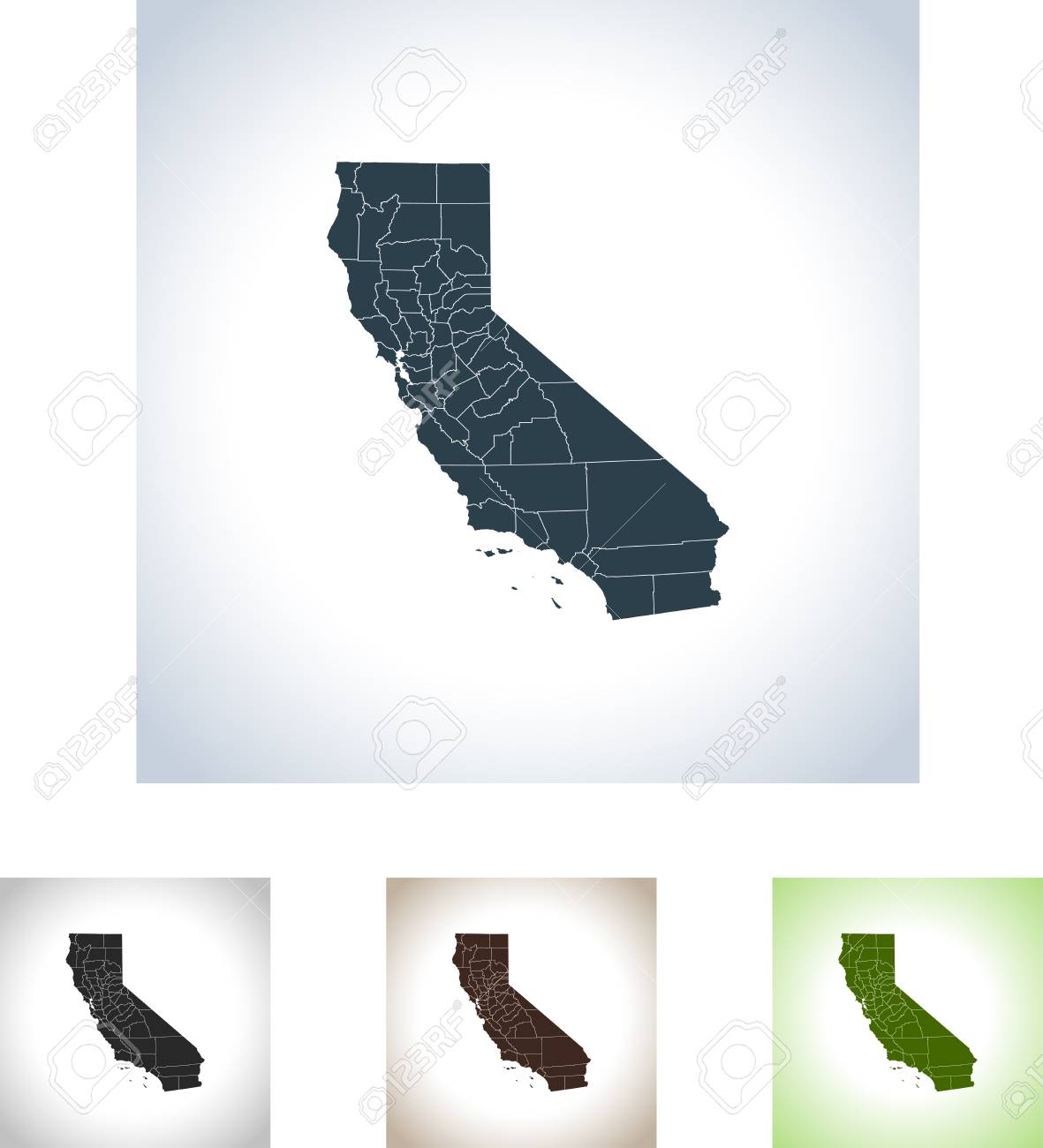 California Map Icon.Map Of California Icon Royalty Free Cliparts Vectors And Stock