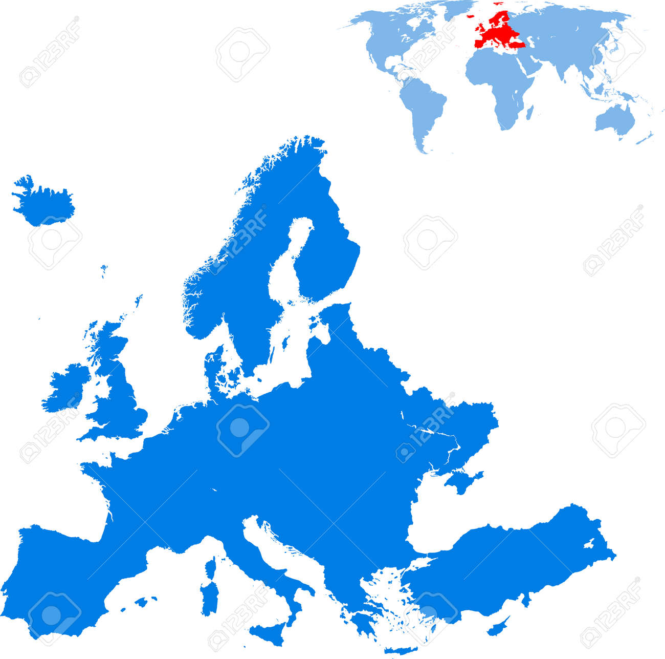 map of Europe - 158556363