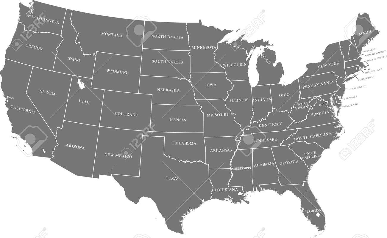 map of USA - 159260520