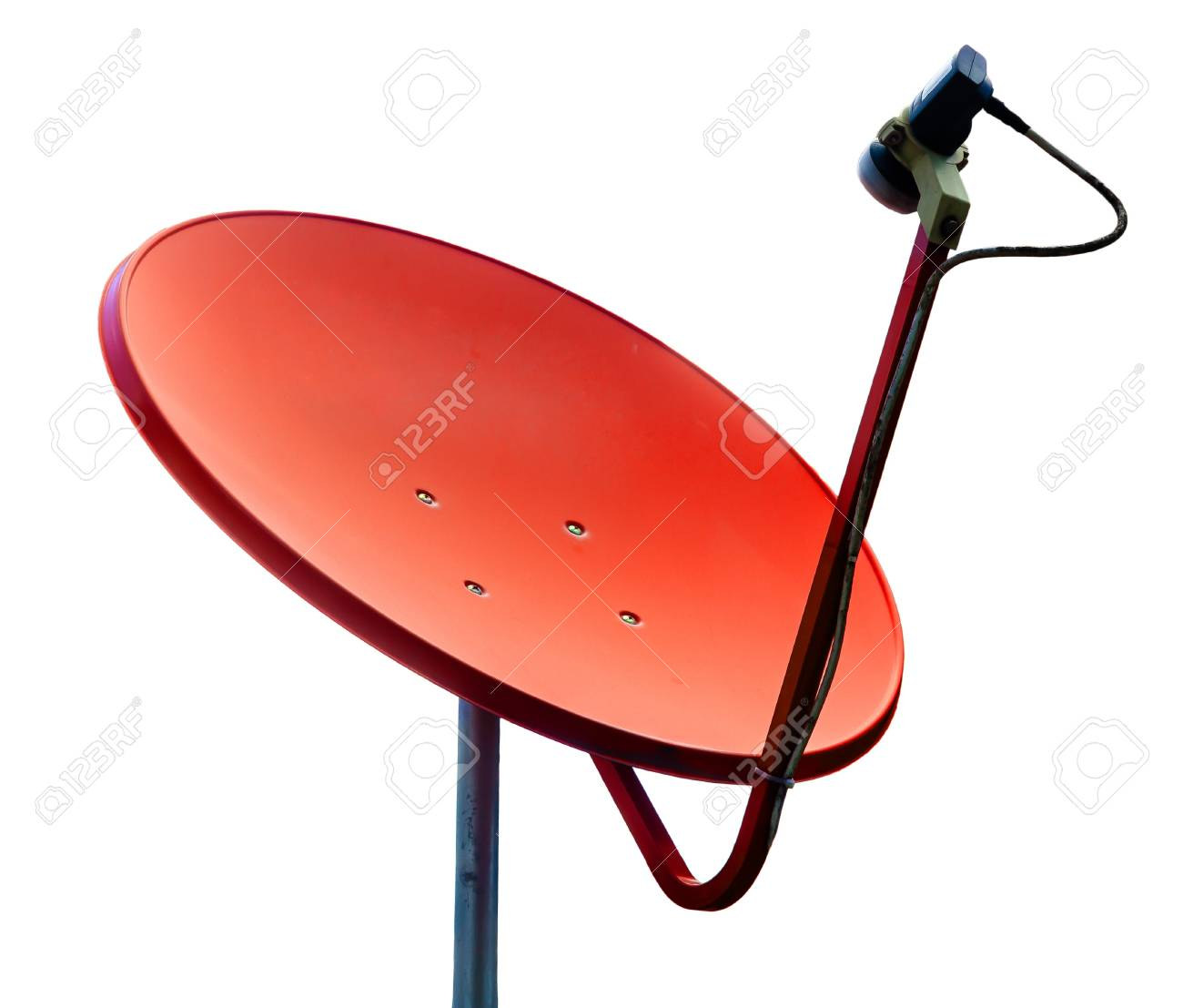Orange satellite on whilte background Stock Photo - 15660027