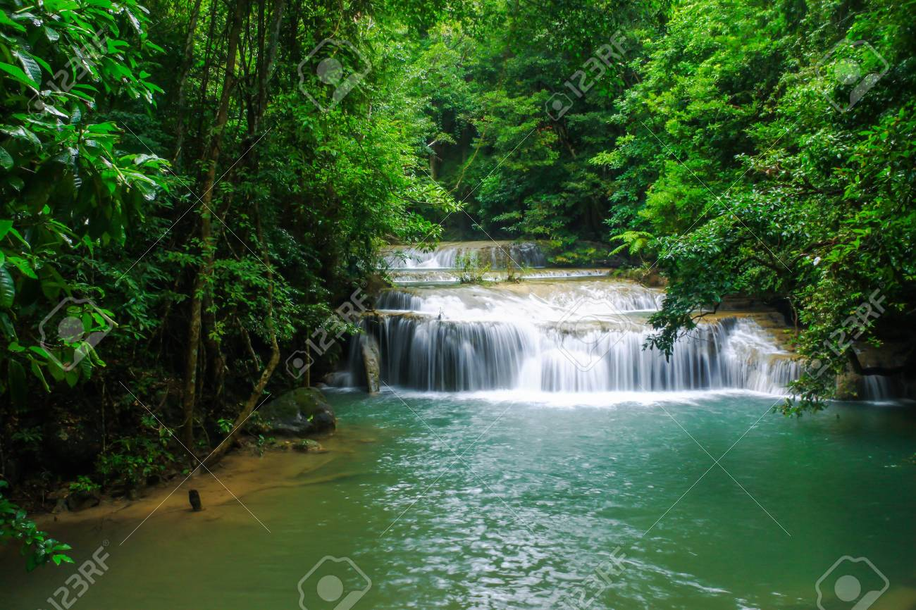 waterfall in thai national park. In the deep forest Stock Photo - 16122293