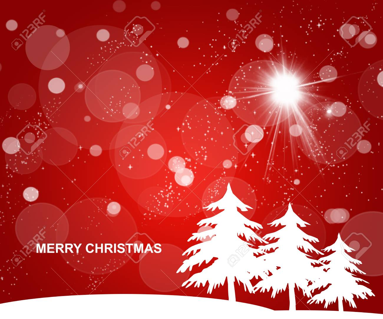 Red Christmas background Stock Photo - 16925728