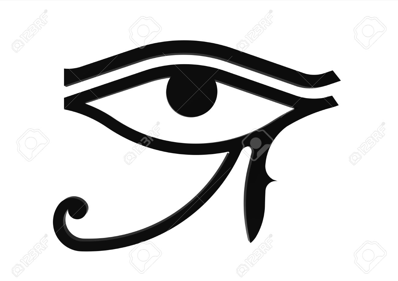 Eye of Horus symbol of the egyptian god Horus, hieroglyph Stock Photo - 7361646