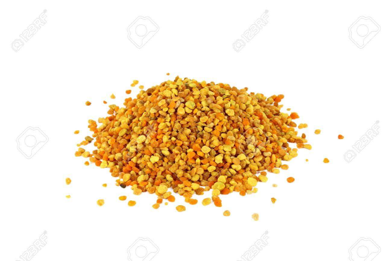 Bunch of bee pollen isolated on white Stock Photo - 7361657