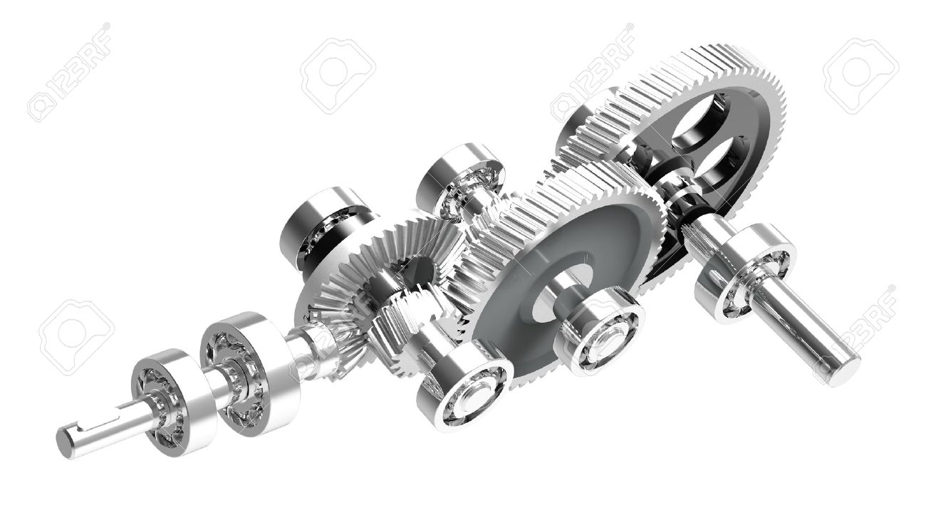 Mechanism concept 3d render of a speed reducer Stock Photo - 9430326