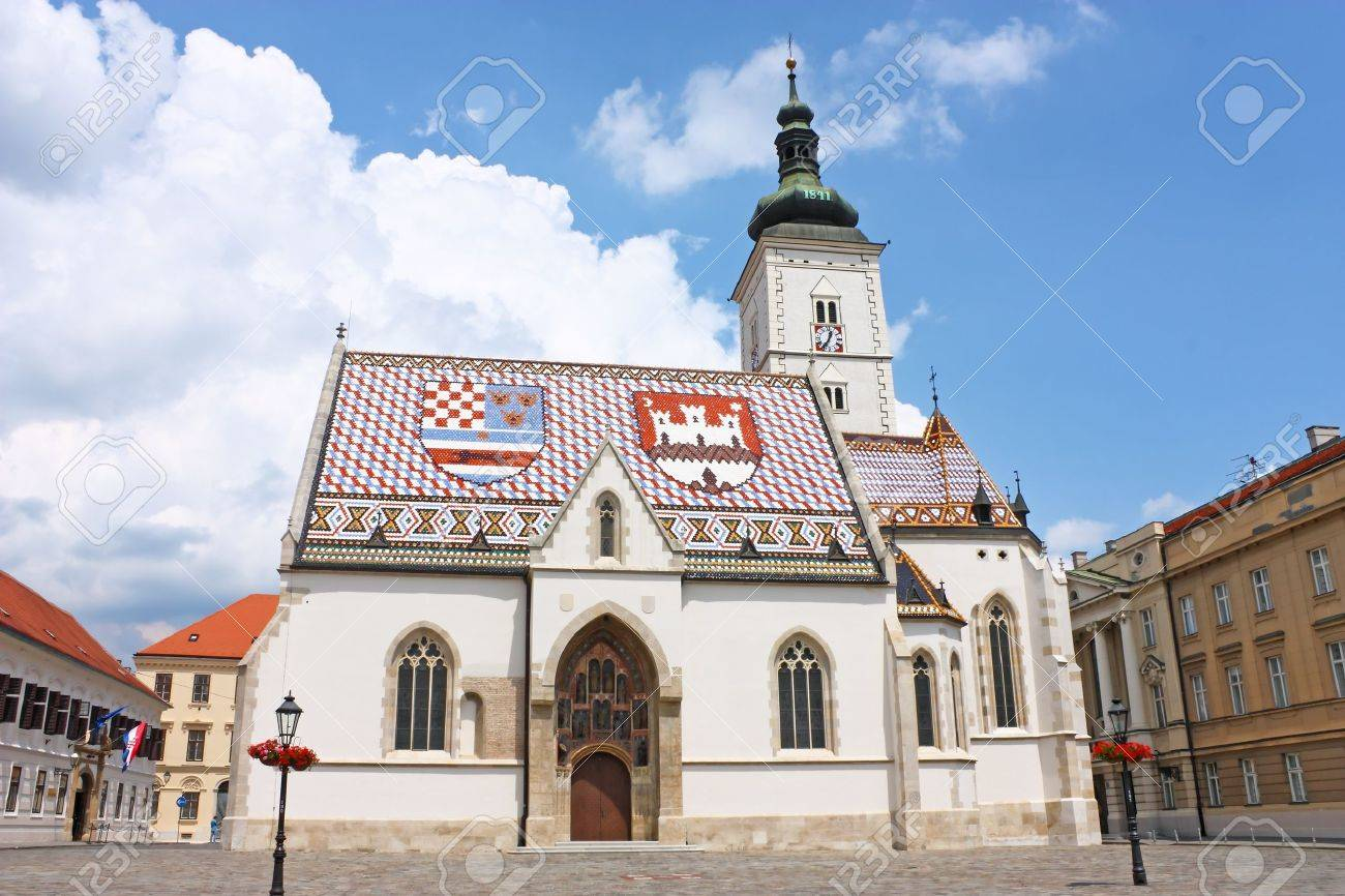 Church of St. Mark Zagreb, Croatia Stock Photo - 9672180
