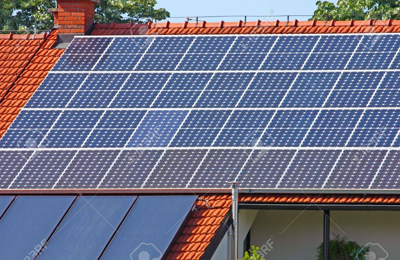 Solar panels on the roof of the house Stock Photo - 11732107