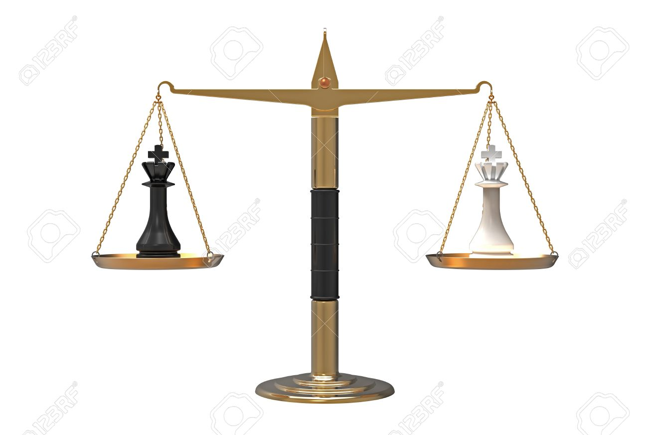 Balance Of Power, Two Chess Kings On The Scales, Balanced, 3d ...