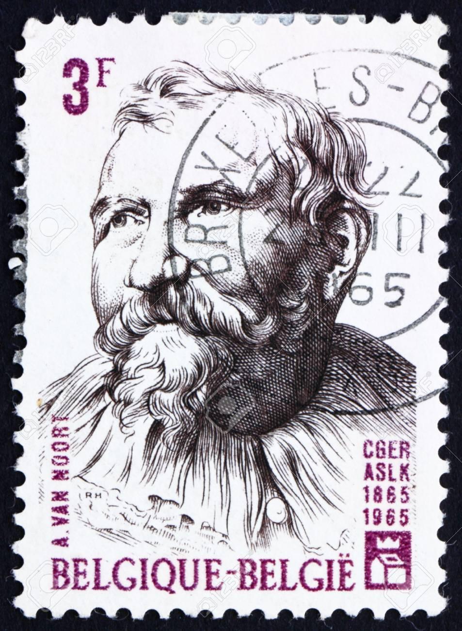 BELGIUM - CIRCA 1965: a stamp printed in the Belgium shows Adam van Noort, Flemish Painter and Draughtsman, circa 1965 Stock Photo - 12935938