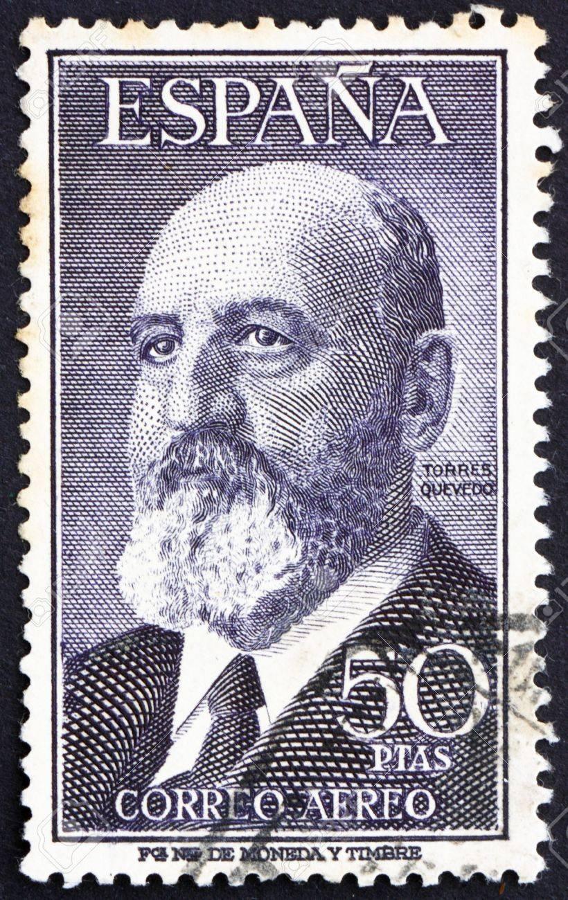 SPAIN - CIRCA 1955: a stamp printed in the Spain shows Leonardo Torres Quevedo, Mathematician and Inventor, circa 1955 Stock Photo - 13257368