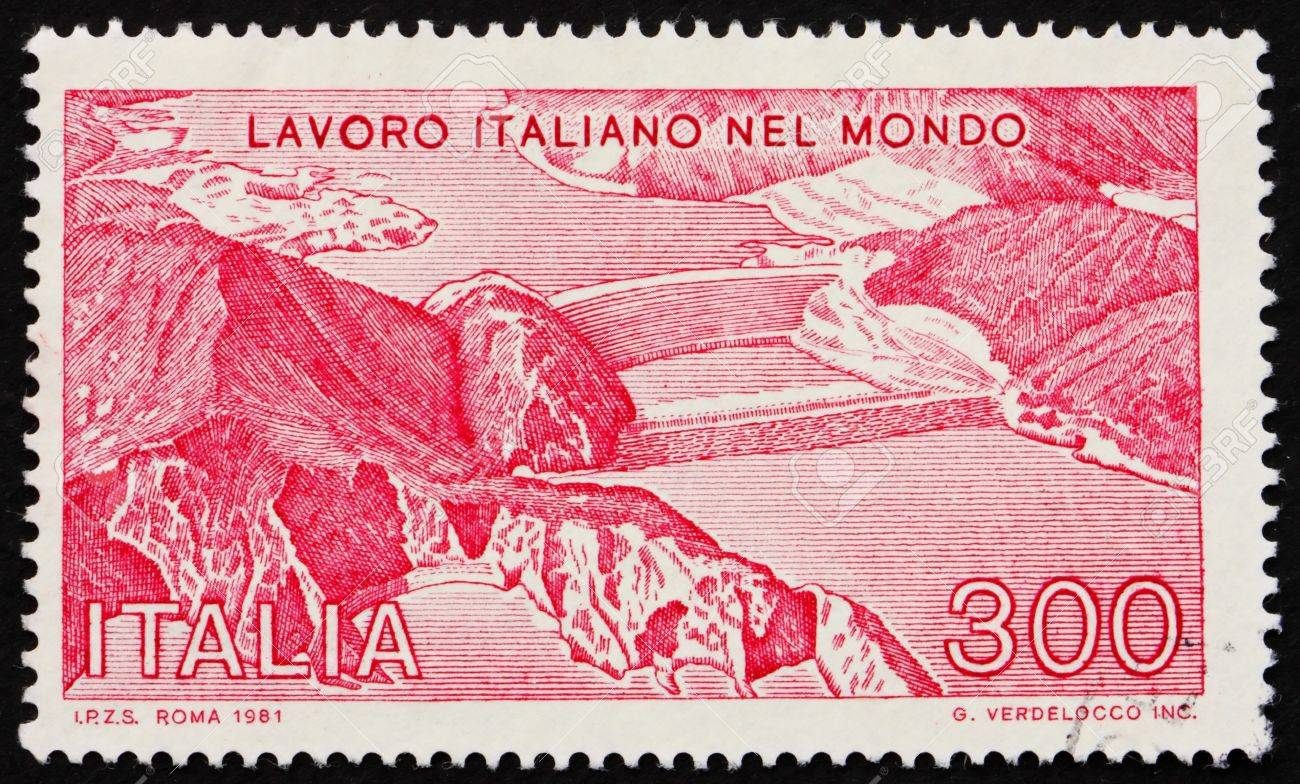 ITALY - CIRCA 1981: a stamp printed in the Italy shows High Island Power Station, Hong Kong, circa 1981 Stock Photo - 13744473