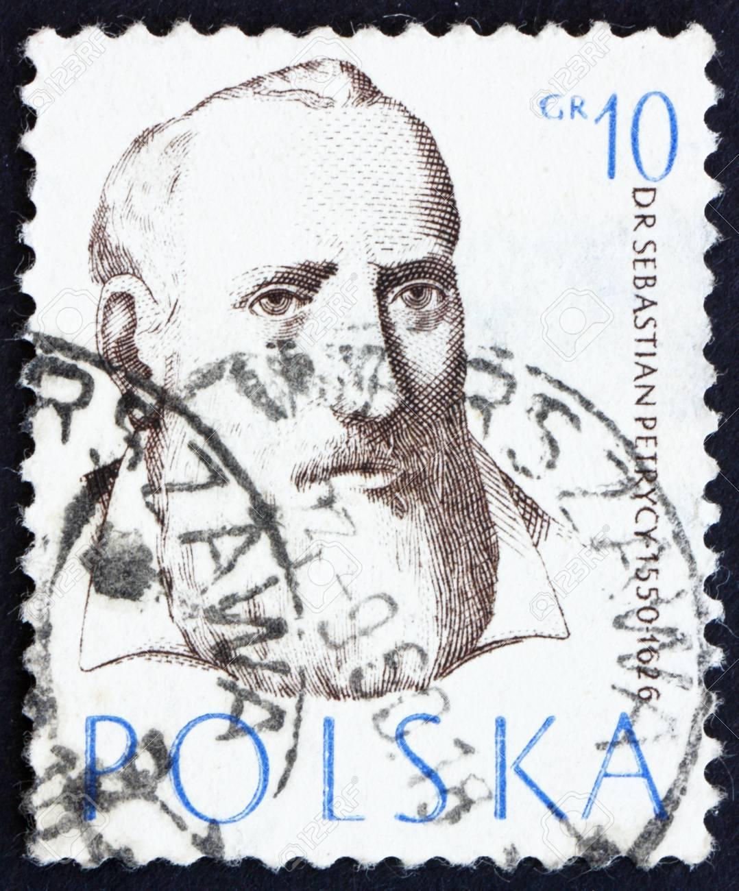 POLAND - CIRCA 1957: a stamp printed in the Poland shows Sebastian Petrycy, Philosopher and Physician, circa 1957 Stock Photo - 14514399
