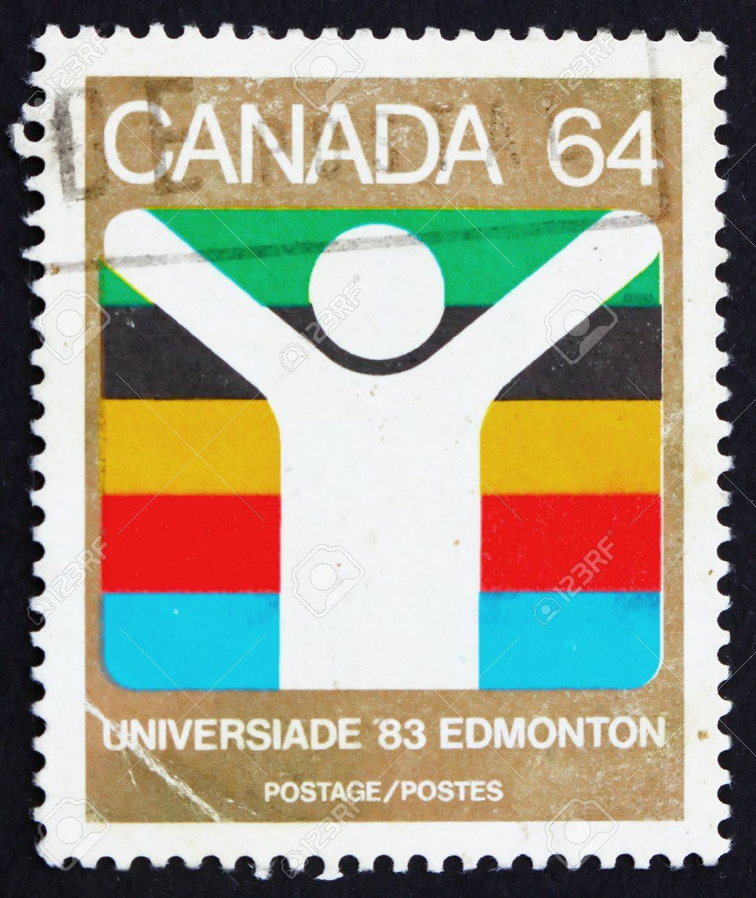CANADA - CIRCA 1983: a stamp printed in the Canada shows World University Games, Edmonton, circa 1983 Stock Photo - 15942840