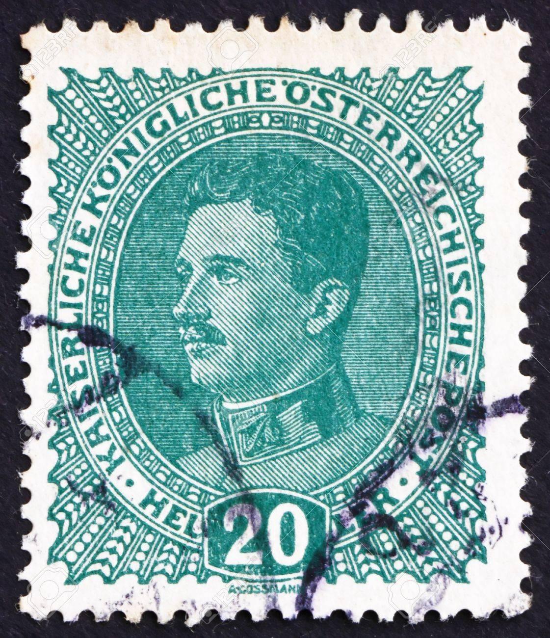 AUSTRIA - CIRCA 1918: a stamp printed in the Austria shows Karl I, Emperor of Austria, circa 1918 Stock Photo - 16224808