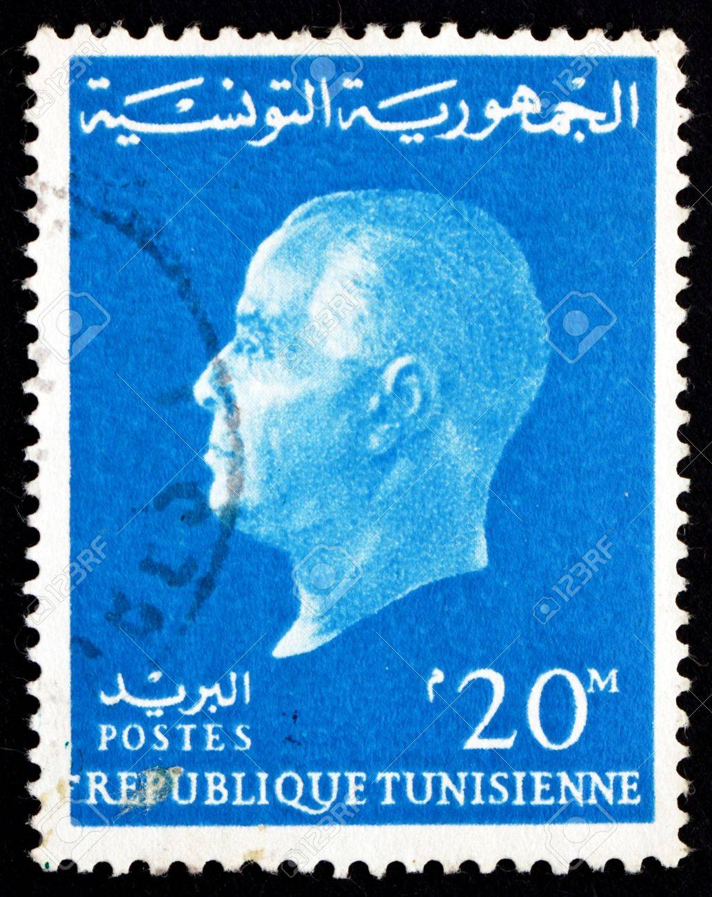 TUNISIA - CIRCA 1962: a stamp printed in Tunisia shows Habib Bourguiba, 1st President of the Republic of Tunisia, circa 1962 Stock Photo - 17393040