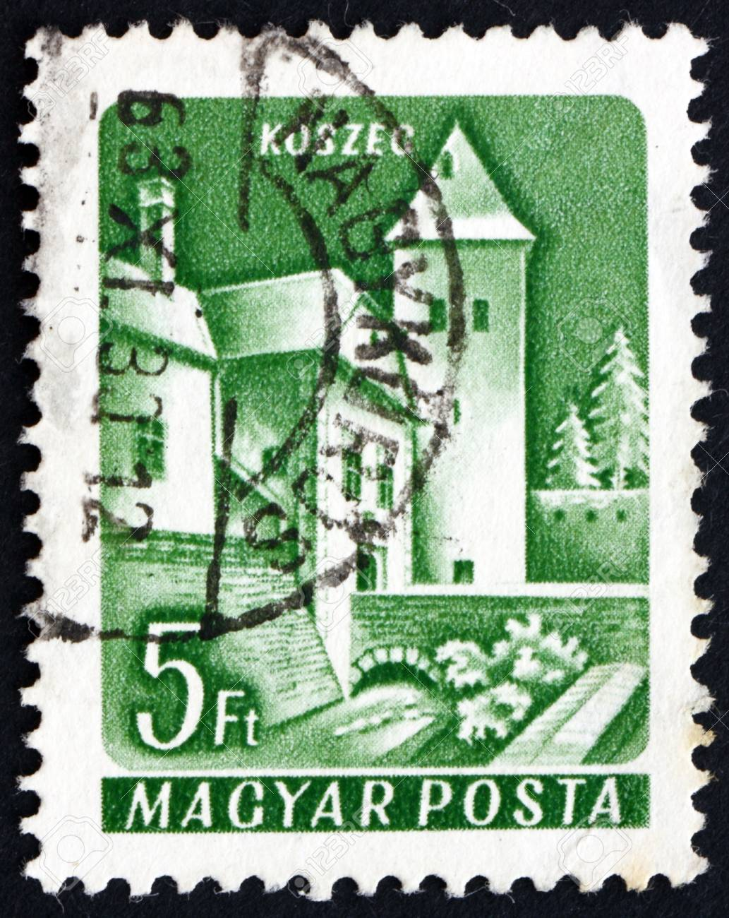 HUNGARY - CIRCA 1964: a stamp printed in the Hungary shows Castle of Koszeg, Hungary, circa 1964 Stock Photo - 17950695