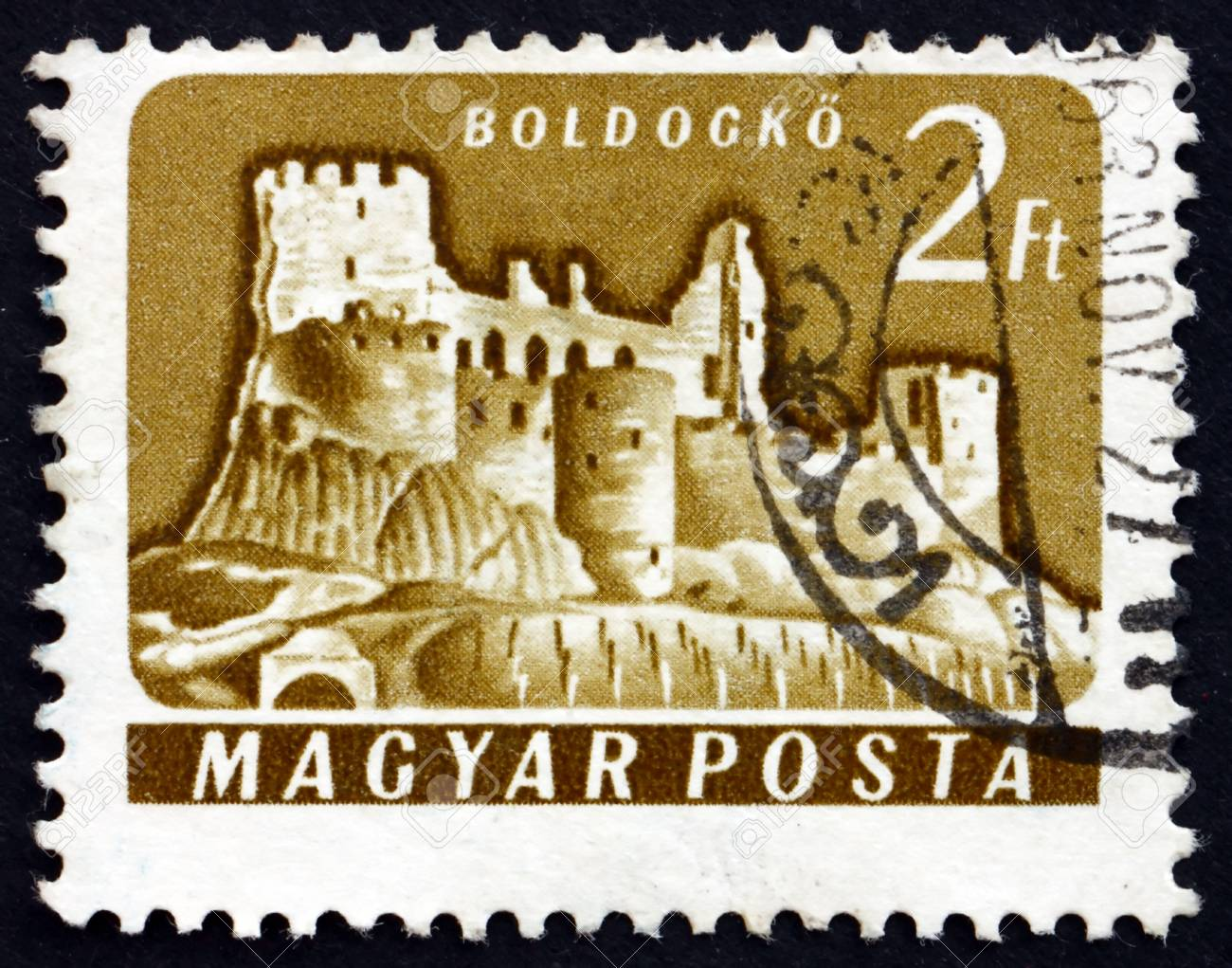 HUNGARY - CIRCA 1961: a stamp printed in the Hungary shows Boldogko Castle, Hungary, circa 1961 Stock Photo - 17950694