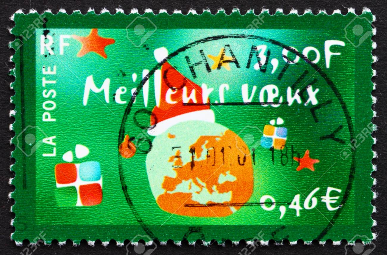 France Circa 2000 A Stamp Printed In The France Shows Holiday