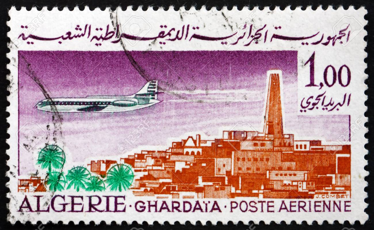 Timbre Carte Grise Algerie.Algerie Circa 1967 Un Timbre Imprime En Algerie Montre Caravelle Sur Ghardaia Circa 1967