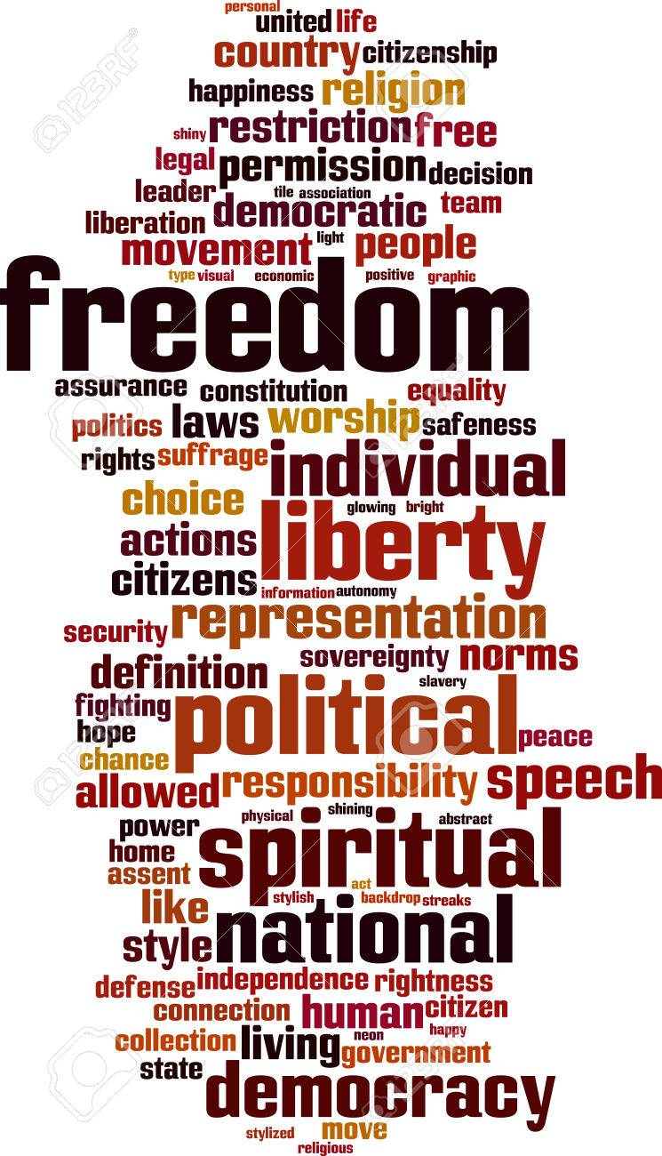 Freedom word cloud concept. Vector illustration Stock Vector - 33148931