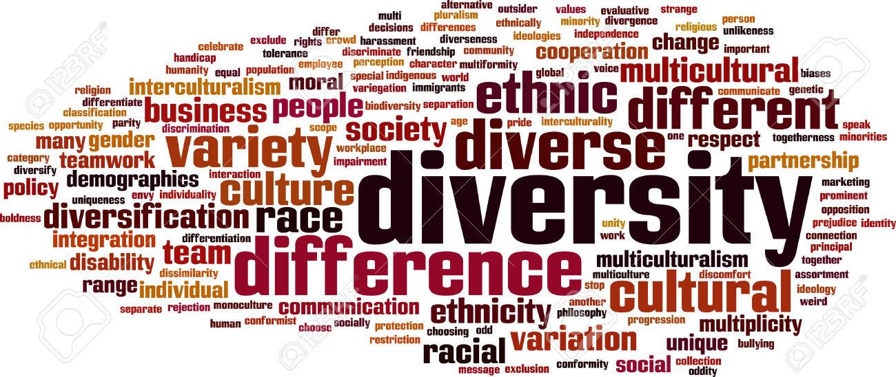 Diversity word cloud concept. Vector illustration Stock Vector - 33480096