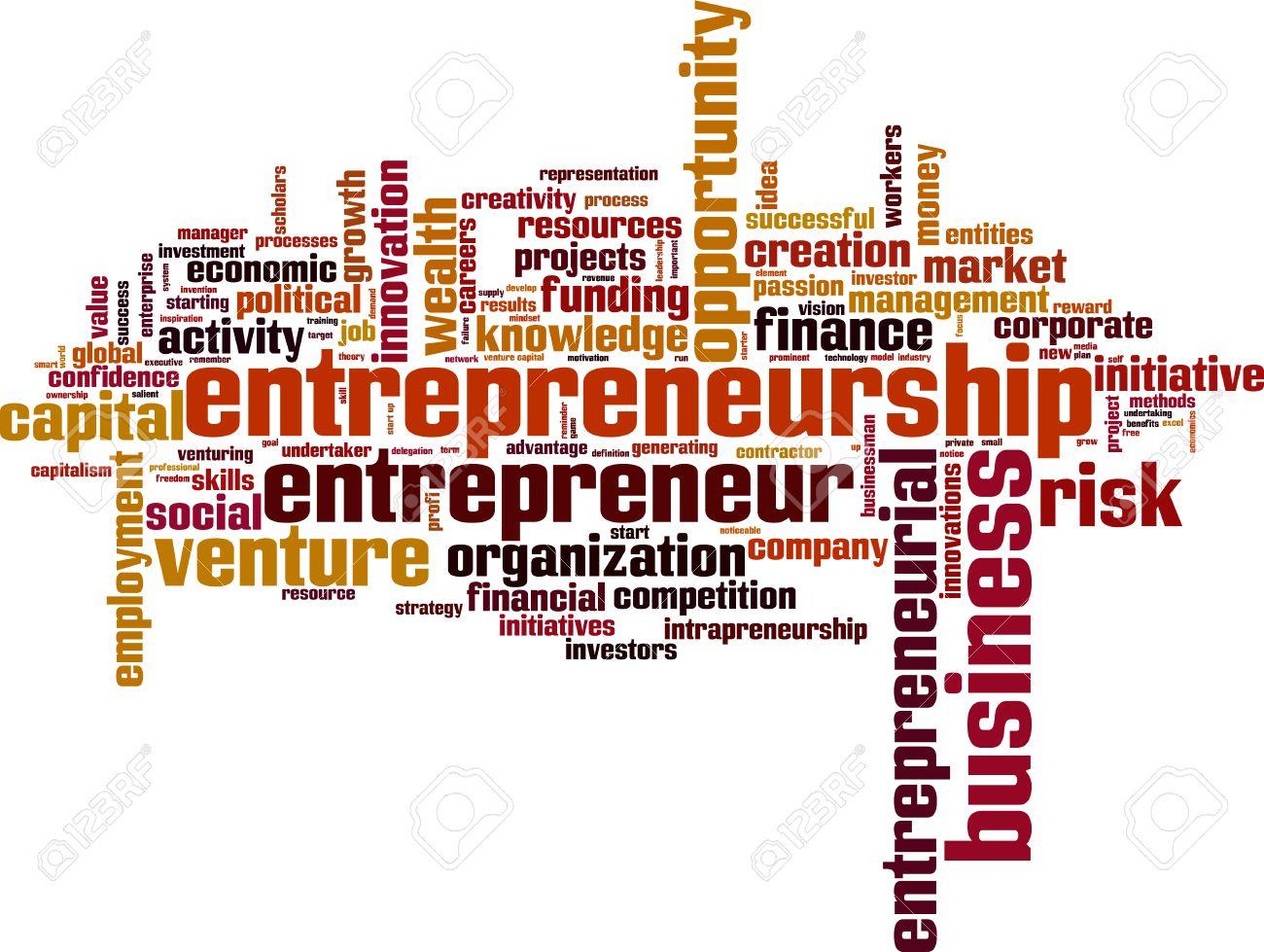 Entrepreneurship word cloud concept. Vector illustration Stock Vector - 34735952