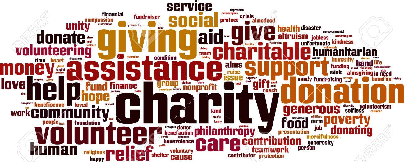 Charity word cloud concept. Vector illustration Stock Vector - 34863372