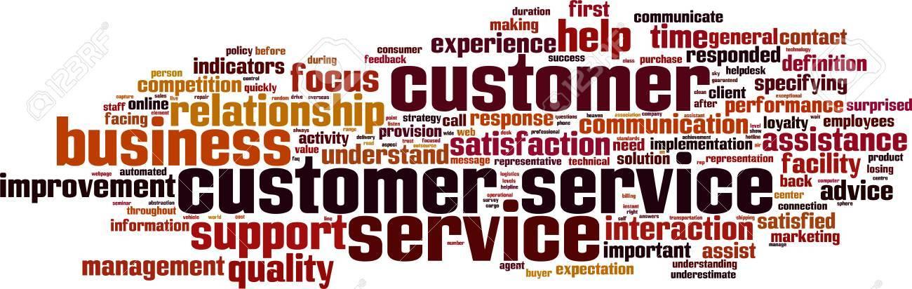 Customer Service word cloud concept. Vector illustration Stock Vector - 35171670