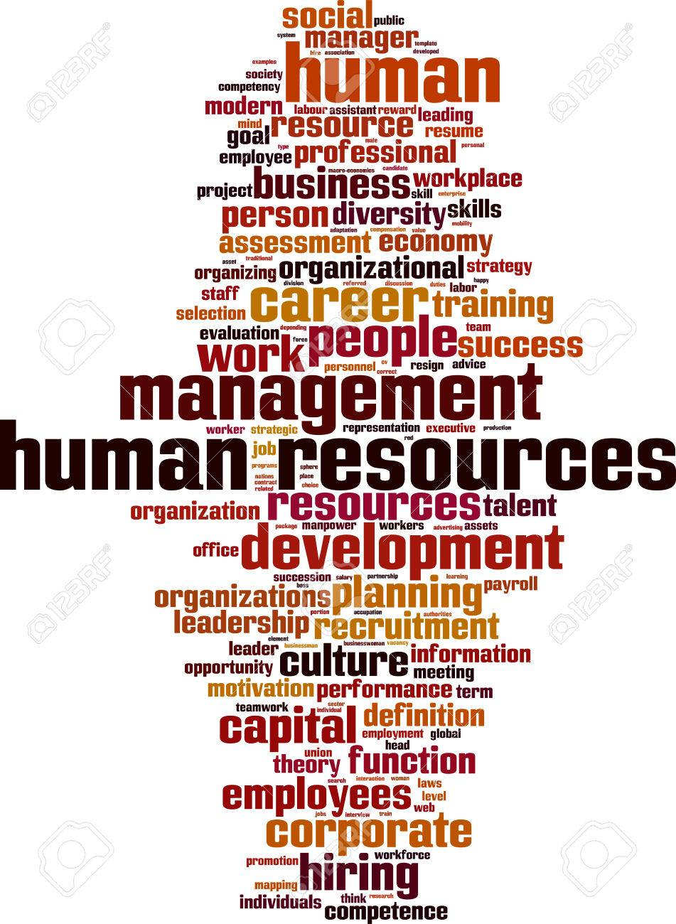 Human Resources word cloud concept. Vector illustration Stock Vector - 34901082