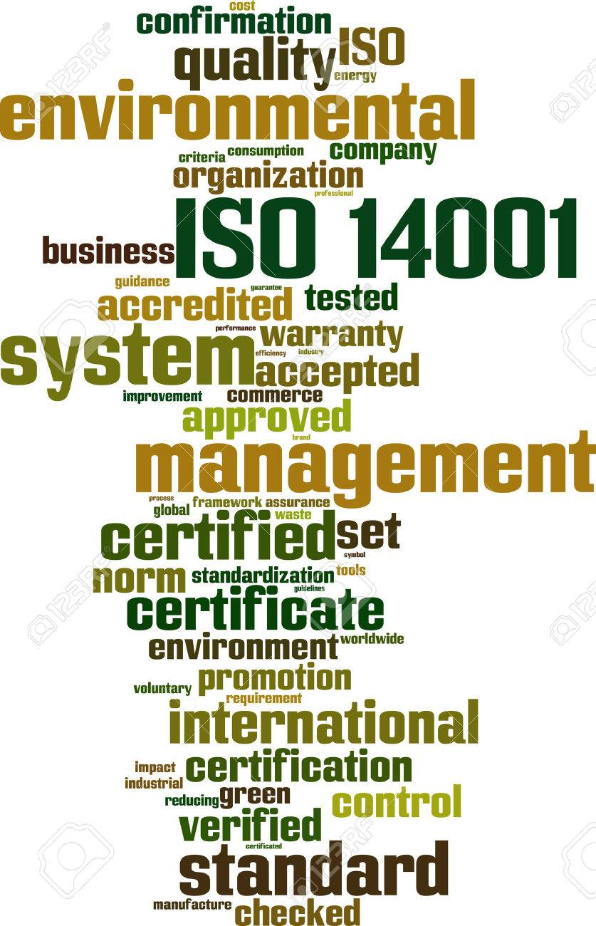 ISO 14001 word cloud concept. Vector illustration Stock Vector - 35016271