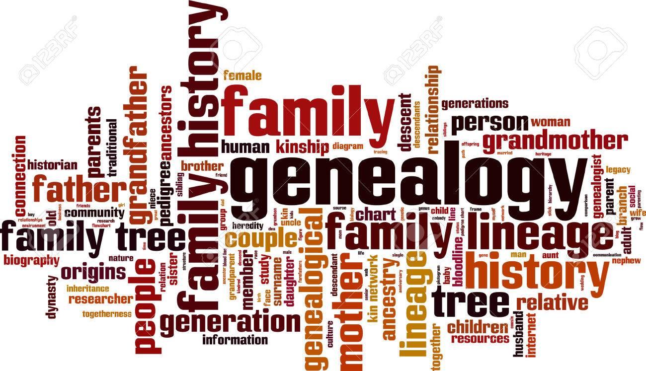 Genealogy word cloud concept. Vector illustration Stock Vector - 35177538