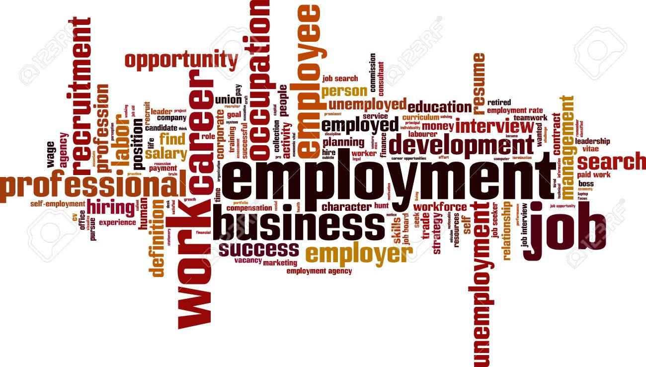 Employment word cloud concept. Vector illustration Stock Vector - 35187747
