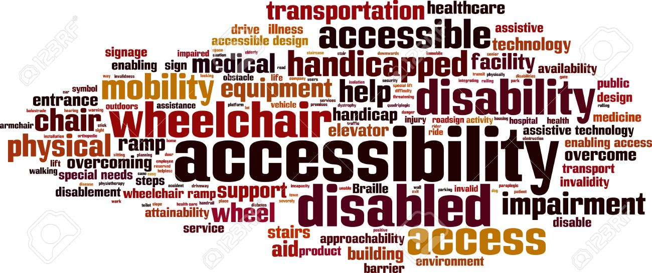 Accessibility word cloud concept. Vector illustration Stock Vector - 35954048