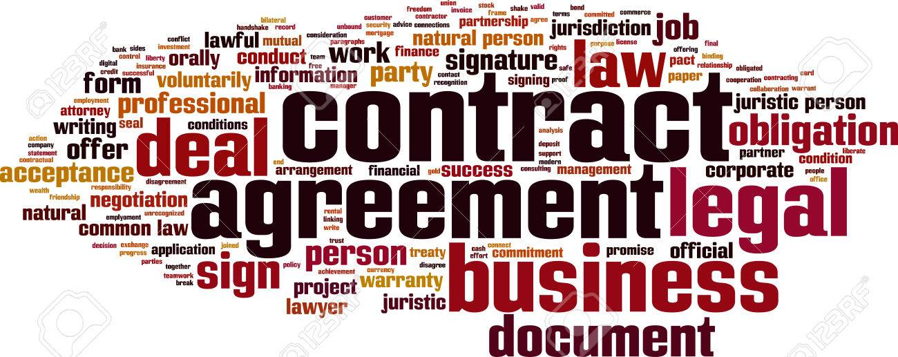 Contract Word Cloud Concept Royalty Free Cliparts Vectors And