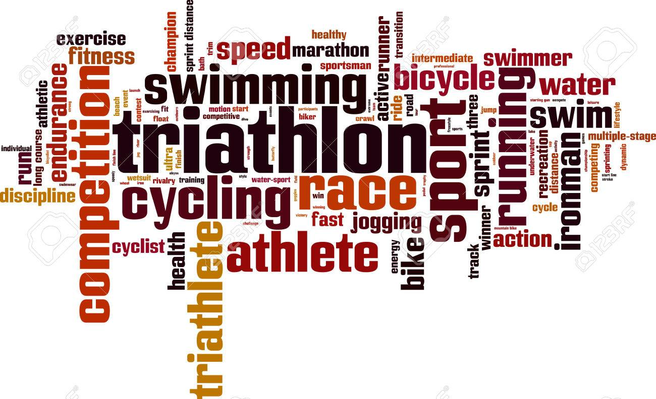 Triathlon word cloud concept. Vector illustration Stock Vector - 37101108
