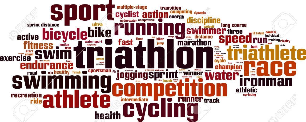 Triathlon word cloud concept. Vector illustration Stock Vector - 37101109