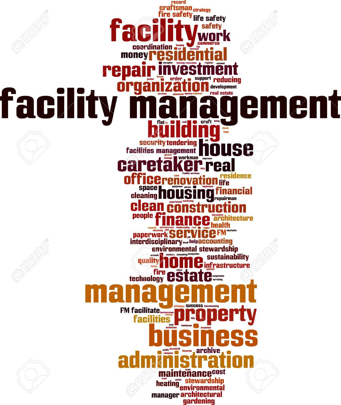 Facility management word cloud concept. Vector illustration Stock Vector - 39349933