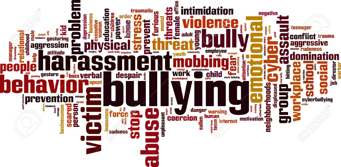 Bullying word cloud concept. Vector illustration Stock Vector - 39597325