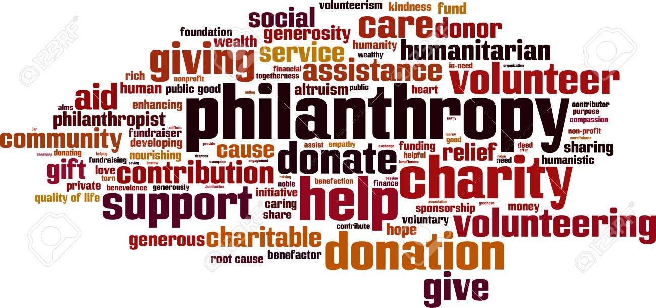 Philanthropy word cloud concept. Vector illustration Stock Vector - 41989237