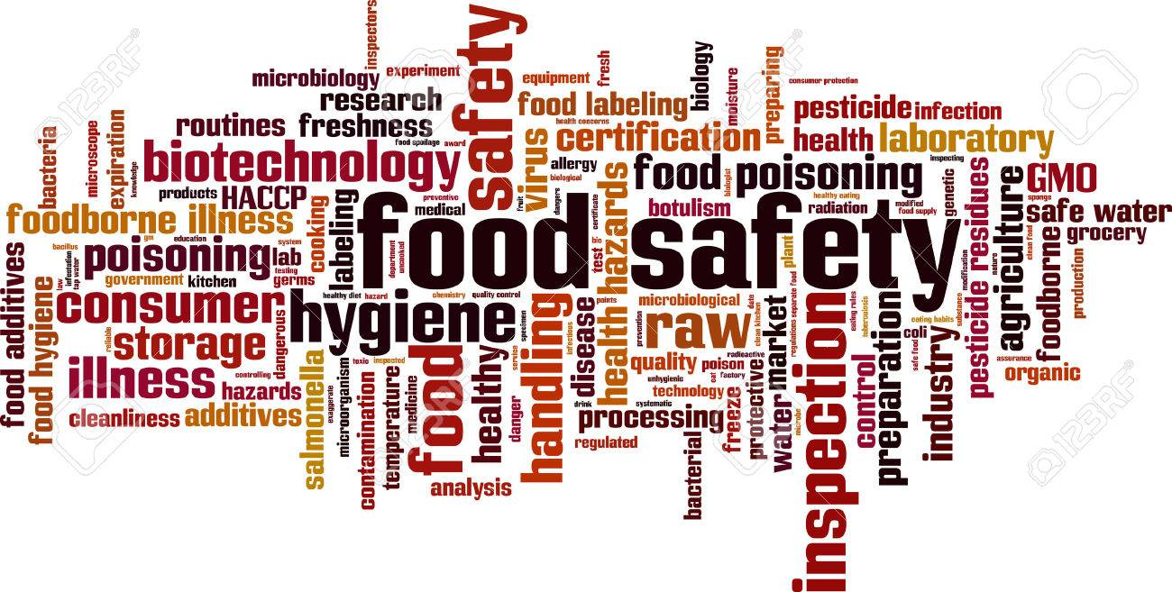 Food safety word cloud concept. Vector illustration Stock Vector - 42072006