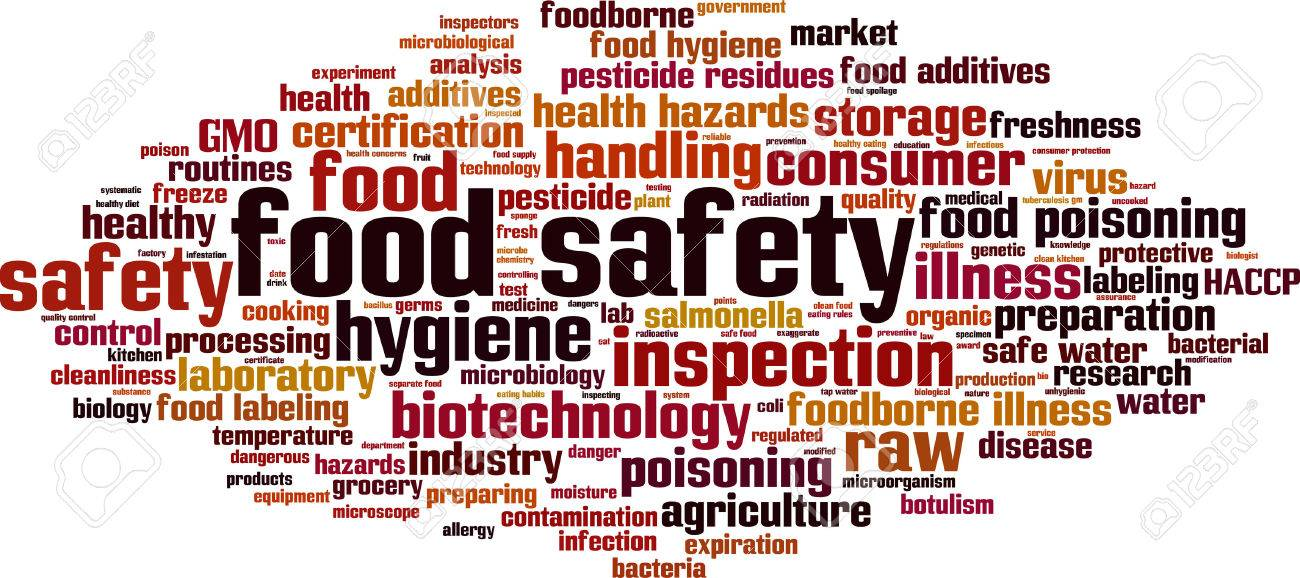 Food safety word cloud concept. Vector illustration Stock Vector - 42076810